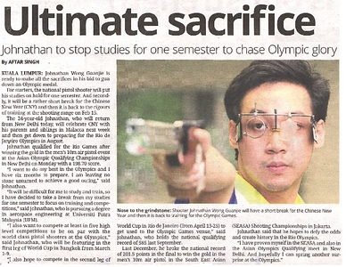 Ultimate Sacrifice Johnathan To Stop Studies For One Semester To