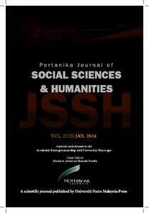Pertanika Journal Of Social Sciences Humanities Universiti Putra Malaysia Institutional Repository