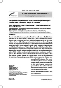 Perception of English lexical stress: some insights for English